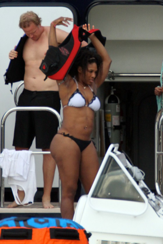 Serena Williams – wearing a bikini in Miami-09