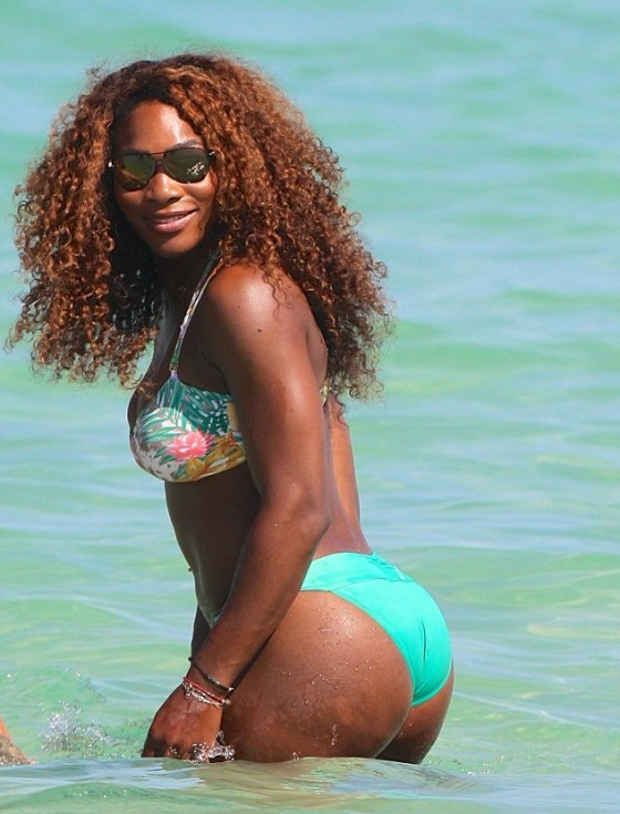 Serena Williams in bikini - Miami Beach-02