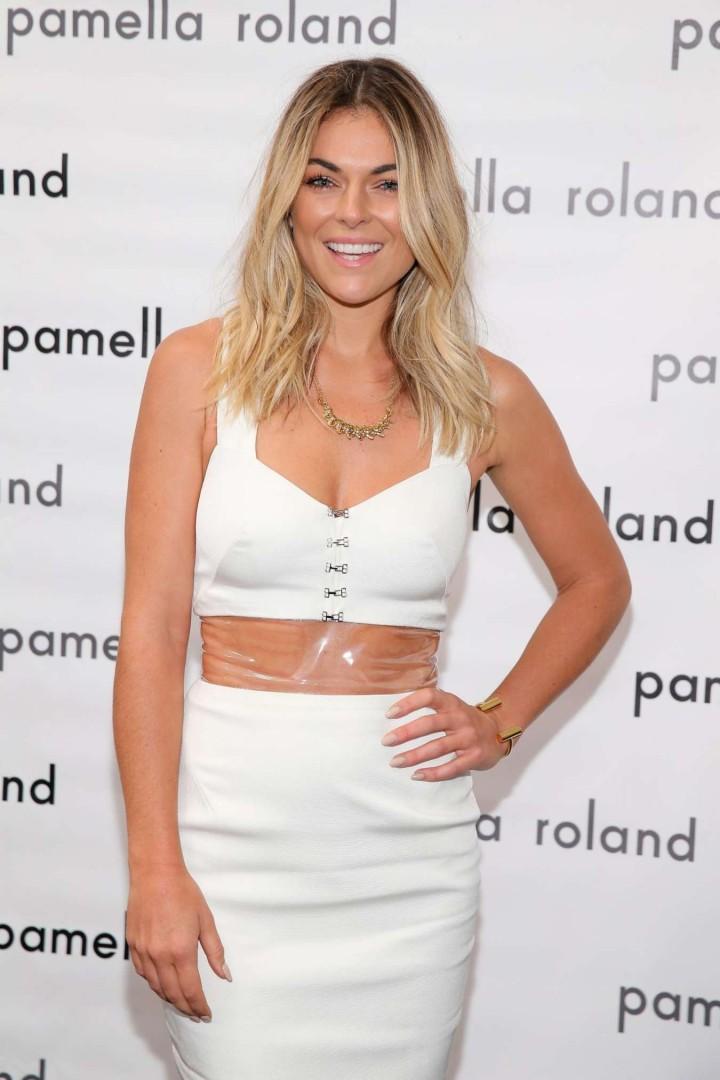 Serinda Swan  – Pamella Roland Fashion Show in New York City