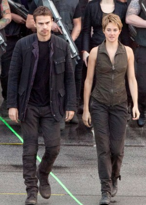 Shailene Woodley - Filming 'Insurgent' set in Atlanta