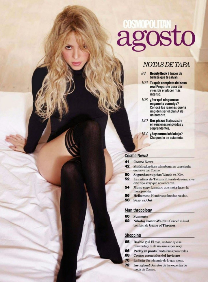 Shakira - Cosmopolitan Magazine (Argentina August 2014)
