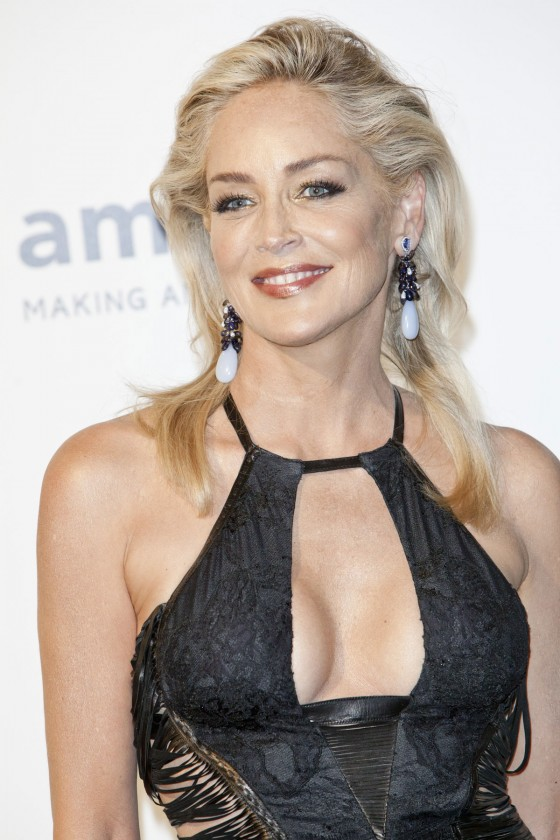 SHARON STONE at 2012 amfAR Milano