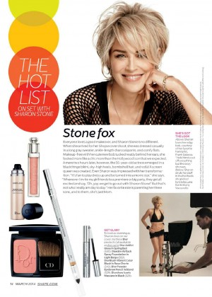 Sharon Stone Looking Hot In Shape Magazine 2014 -03