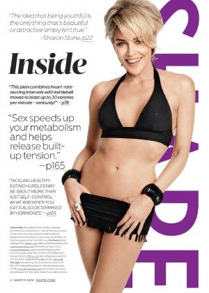 Sharon Stone Looking Hot In Shape Magazine 2014 -04