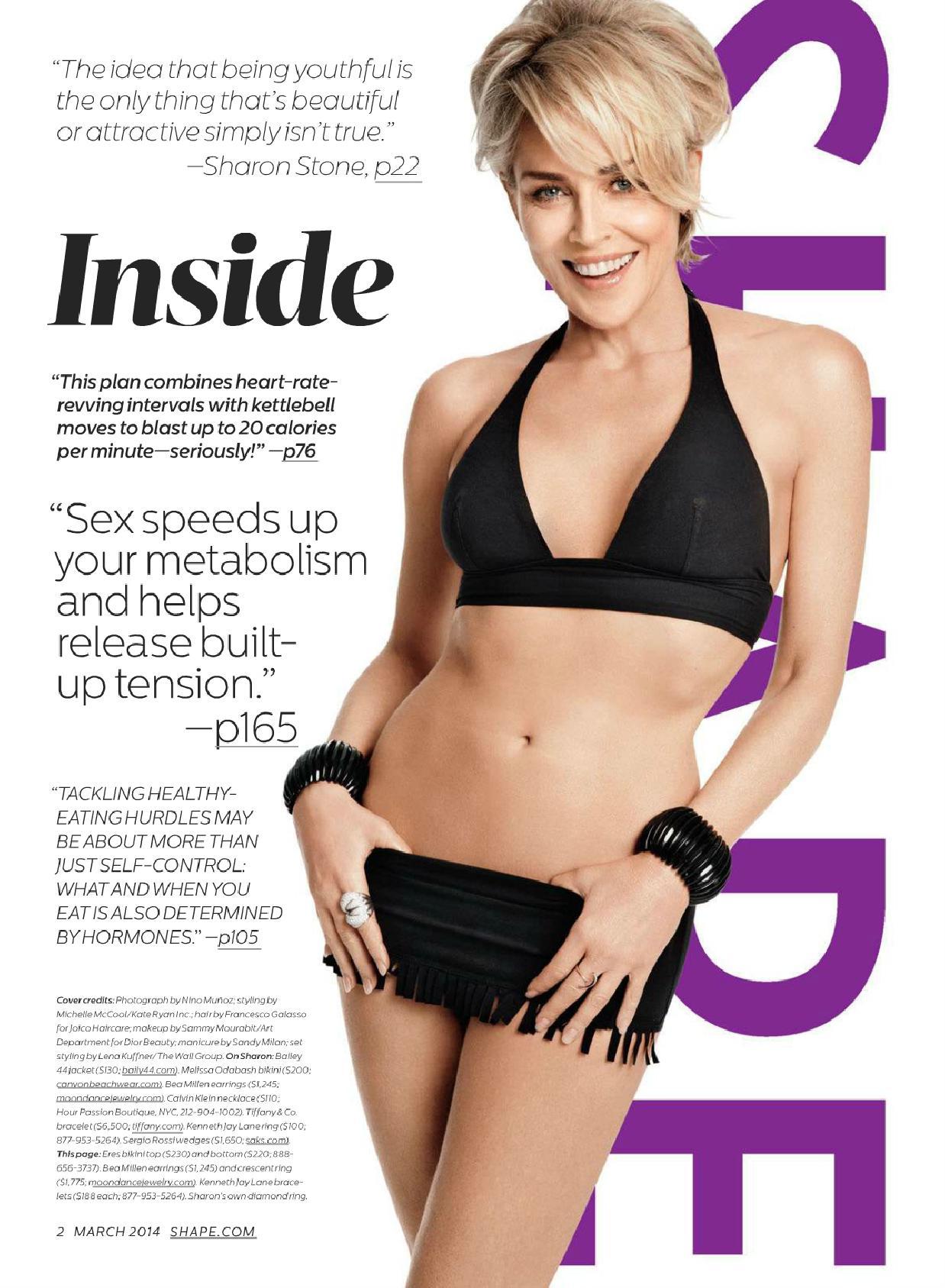 Back to FULL gallery Sharon Stone – Shape Magazine (March 2014) Karen Gillan Photoshoot 2014