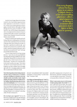 Sharon Stone Looking Hot In Shape Magazine 2014 -07