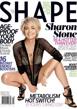Sharon Stone Looking Hot In Shape Magazine 2014 -08