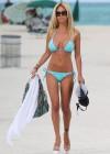 Shauna Sand in a Blue Bikini -01