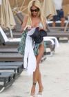 Shauna Sand in a Blue Bikini -02
