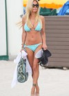 Shauna Sand in a Blue Bikini -13