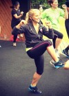 Shawn Johnson - Exercising at Clapham Common Park in London