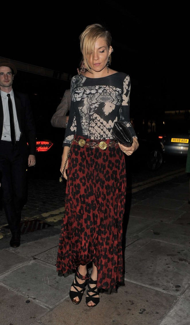 Sienna Miller - AnOther Magazine's Party in London