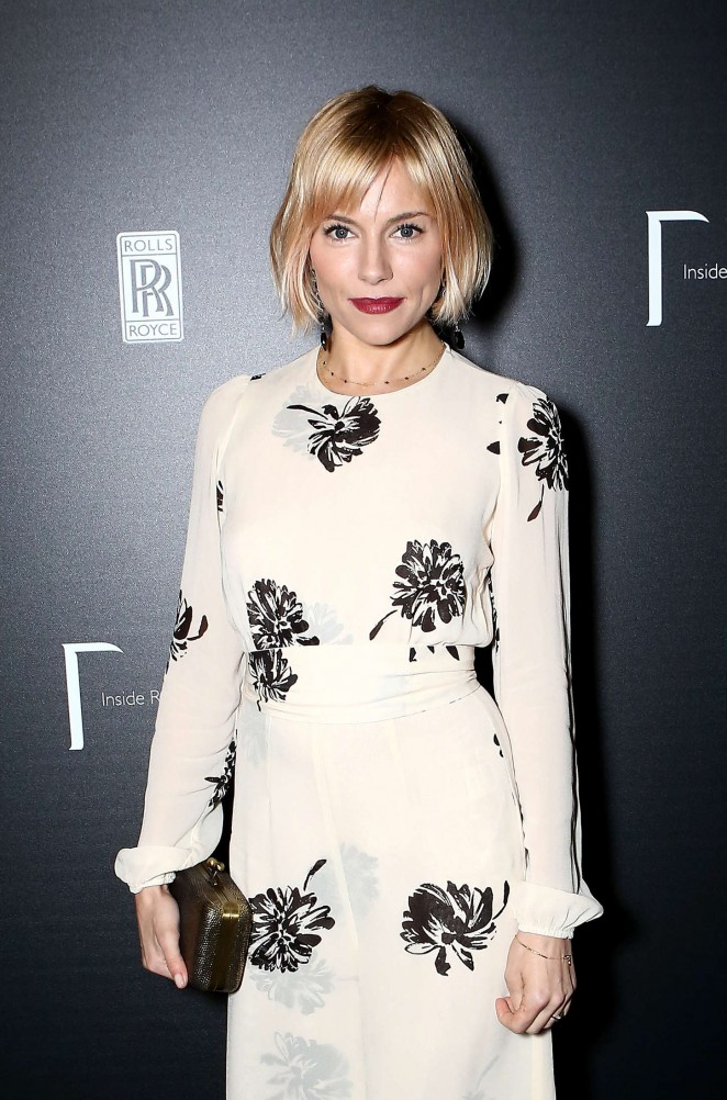 Sienna Miller - Inside Rolls-Royce Opening Night in London