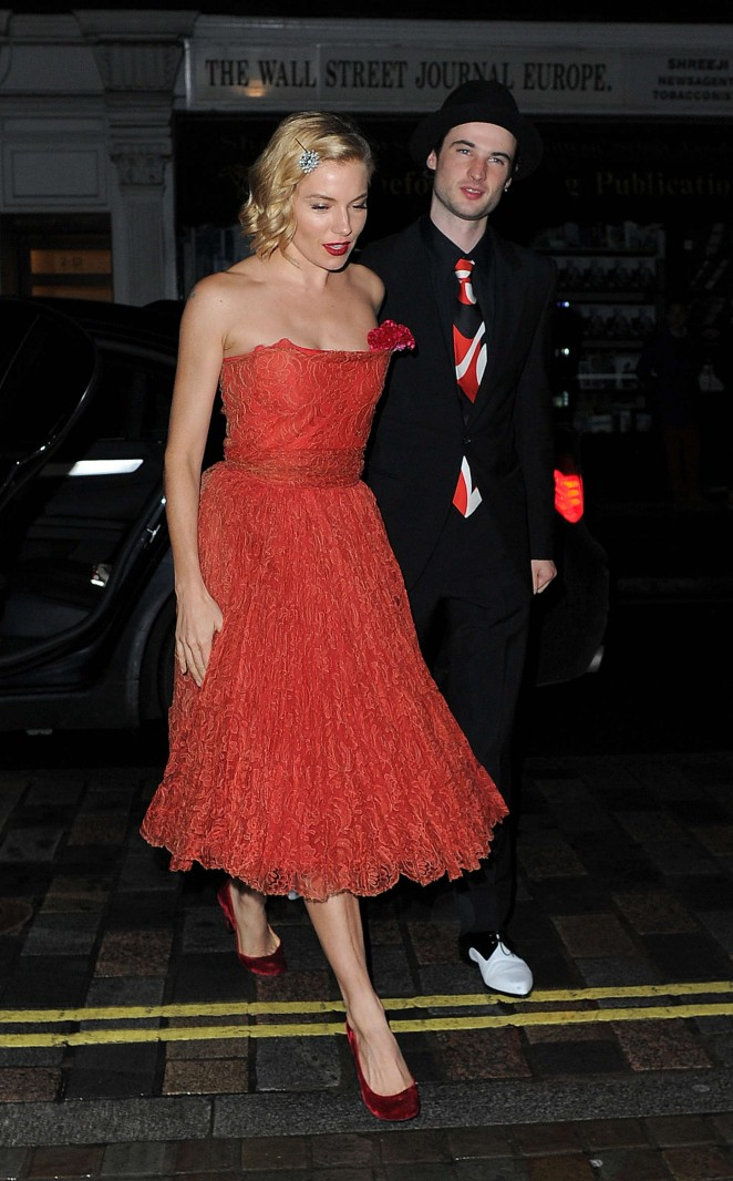 Sienna Miller at the Chiltern Firehouse to Celebrate Mario Testino's 60th Birthday