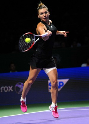 Simona Halep at WTA Finals 2014 in Singapore