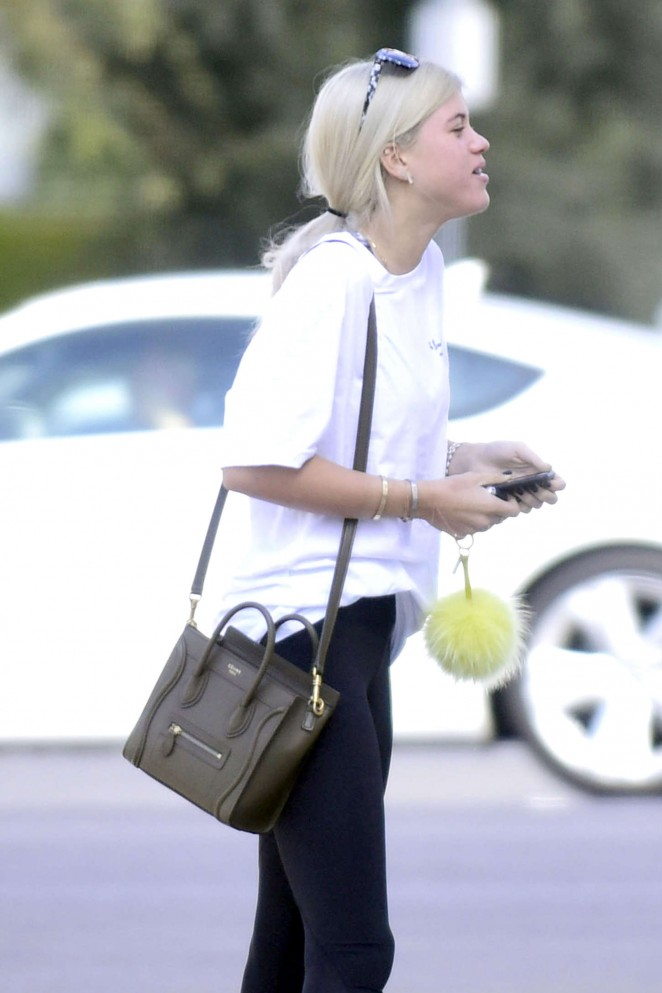Sofia Richie in Leggings out in West Hollywood
