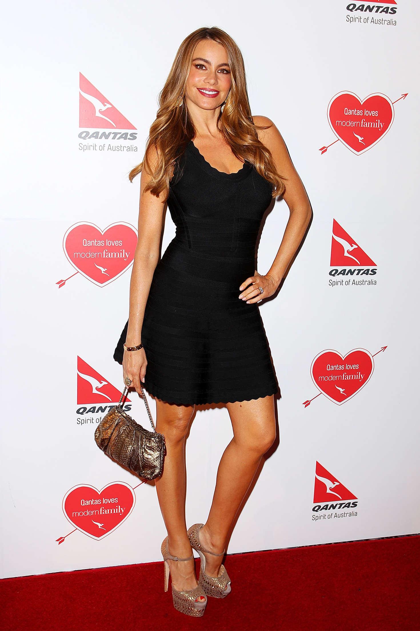 Sofia Vergara at the Qantas party in Sydney -01 - GotCeleb