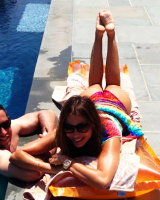 Sofia Vergara - Bikini by the pool -03