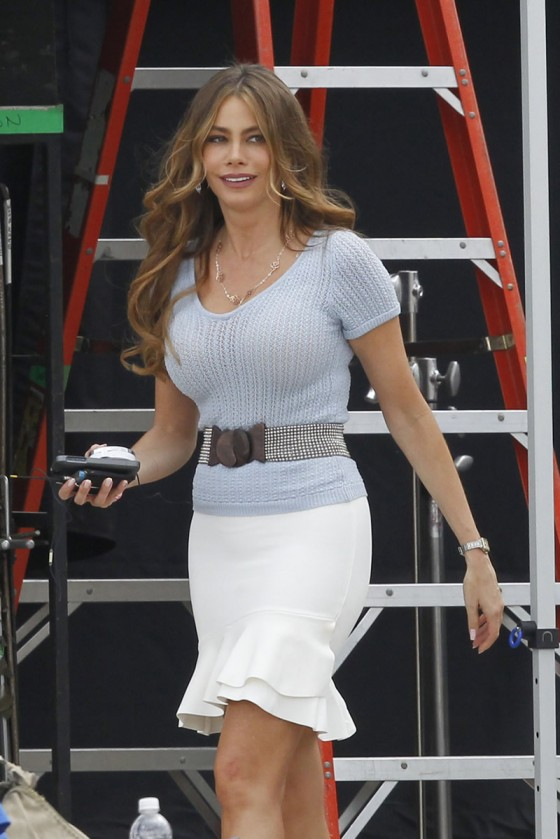 Sofia Vergara on the set of Heat in New Orleans -19