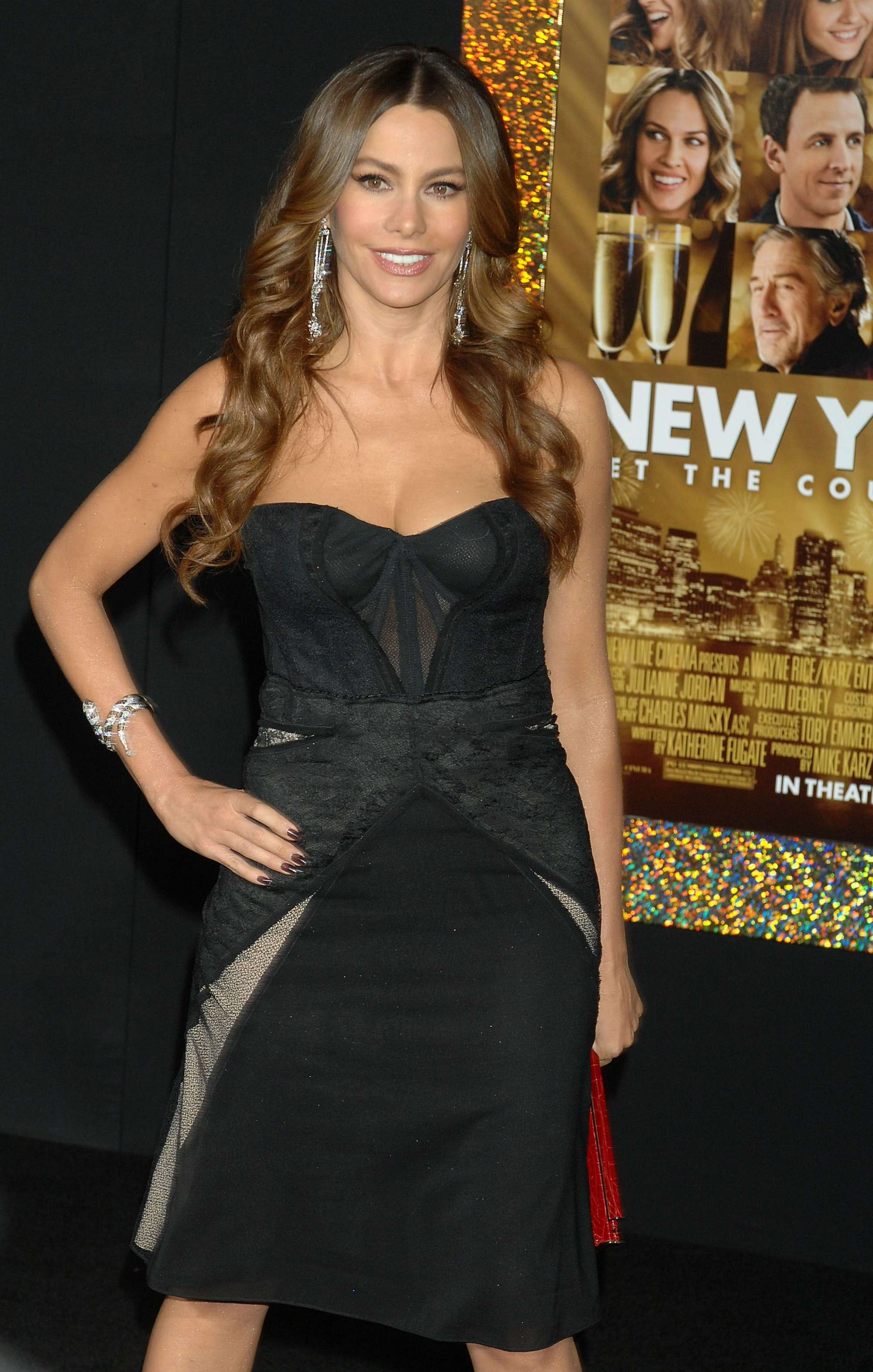 sofia vergara wardrobe malfunction breast new year s sofia vergara s