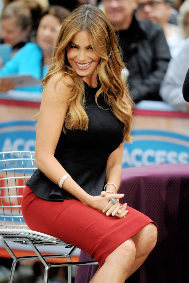 "Sofia Vergara on the set of ""Access Hollywood"" in NYC"