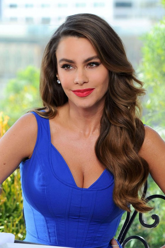 Sofia Vergara on the set of Diet Pepsi Commercial