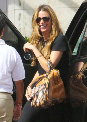 Sofia Vergara in Spandex Out in Beverly Hills