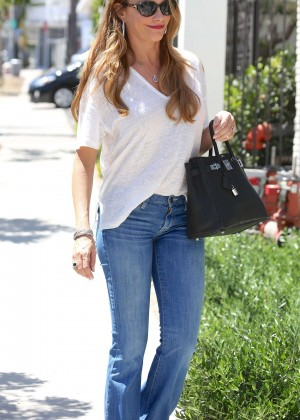 Sofia Vergara in Jeans Out in Los Angeles