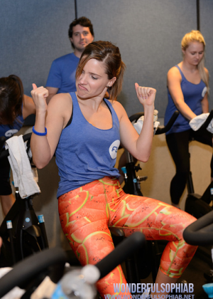"Sophia Bush in Leggings at Flywheel Sports ""Ride to benefit the 100 Club of Chicago"" in Chicago"