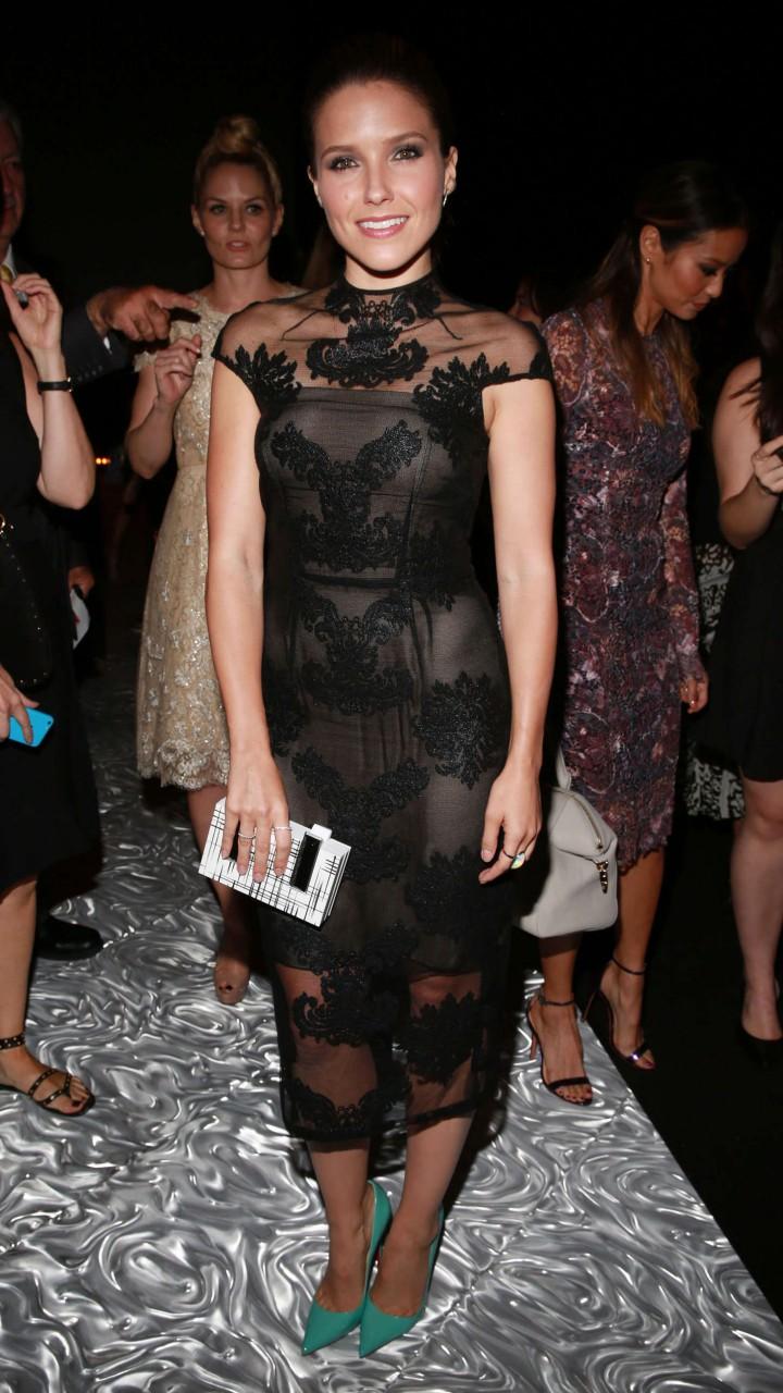 Sophia Bush - Monique Lhuillier Fashion Show in NY