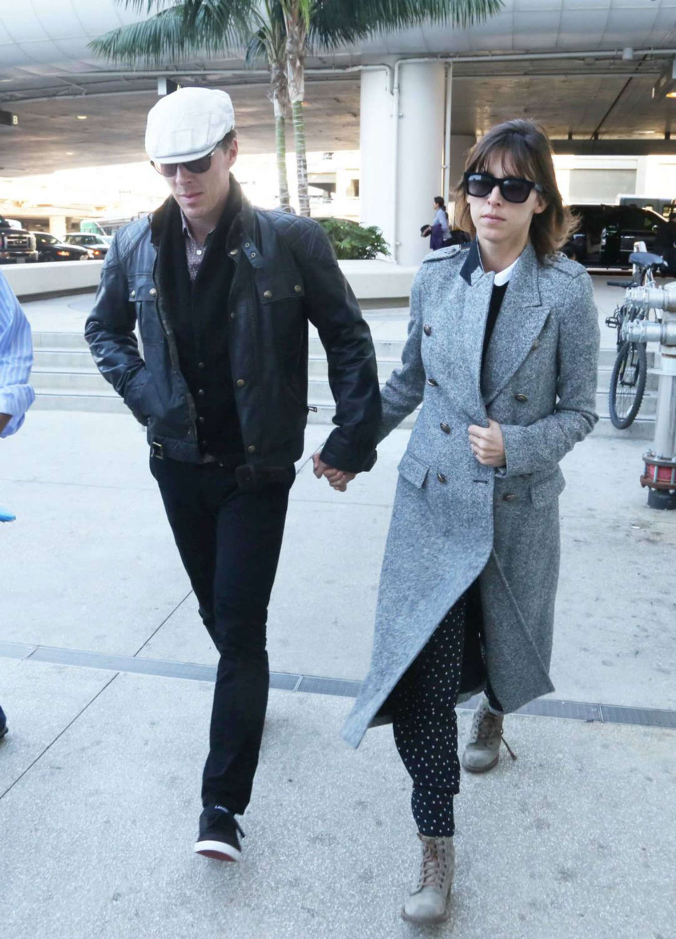 Sophie Hunter and Benedict Cumberbatch Arriving at Lax Airport in LA