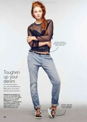 Sophie Turne: Glamour Magazine UK -08