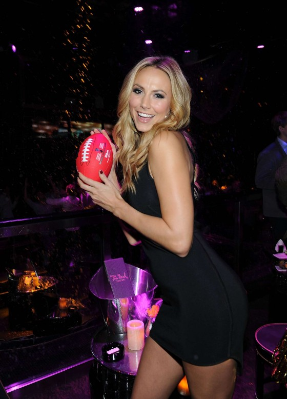 Stacy Keibler  Hot at Big Game Eve at Bank Nightclub in Las Vegas-04