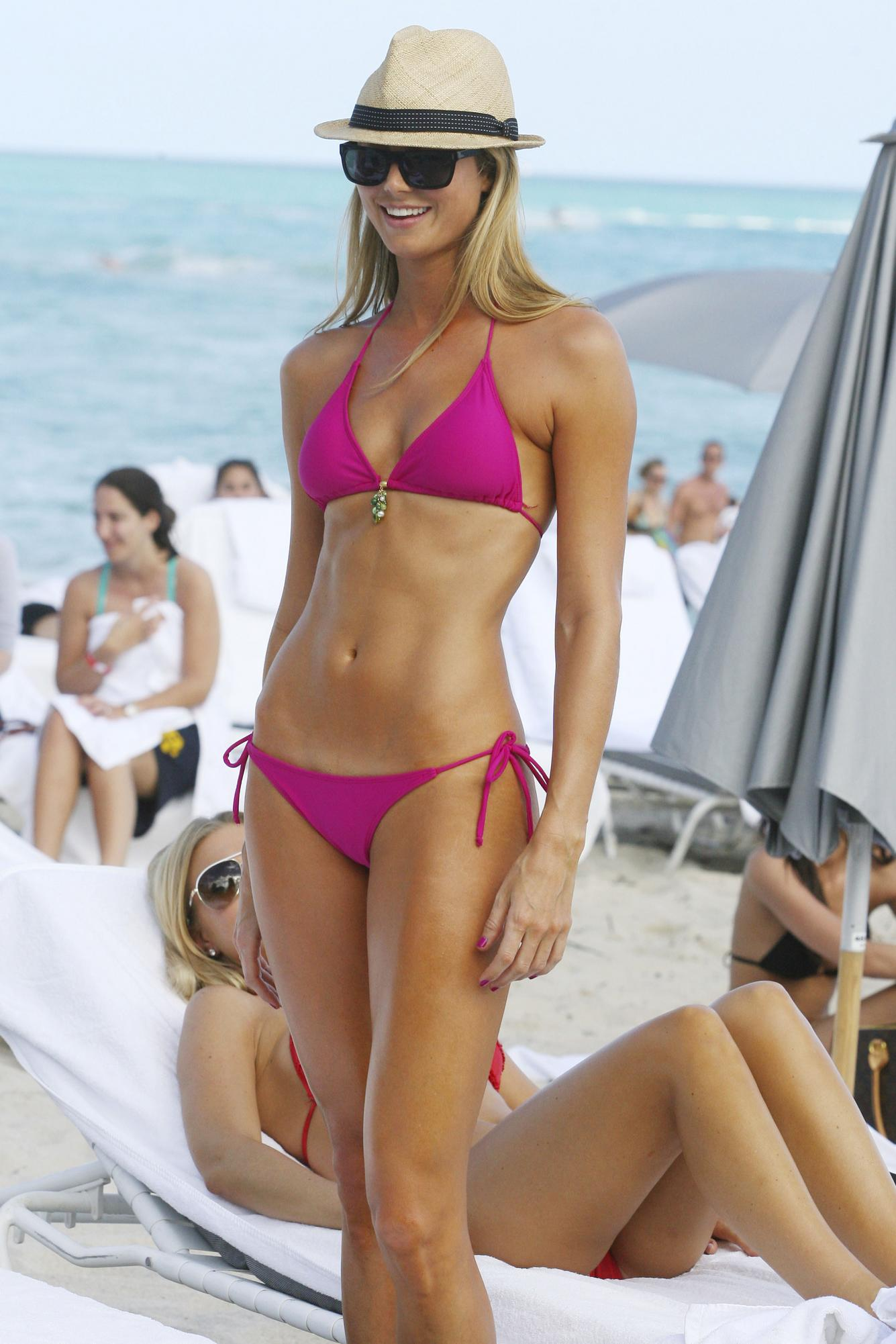 Posted in: Stacy Keibler in a bikini at Encore Beach Club and more