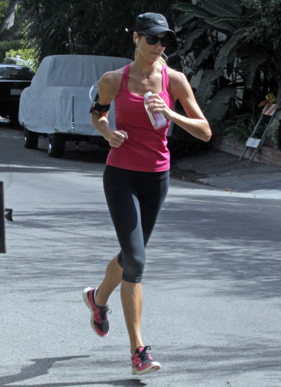 Stacy Keibler Out Jogging in Studio City