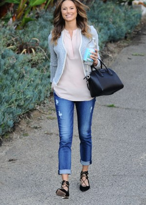 Stacy Keibler in Jeans Leaving her house in Los Angeles