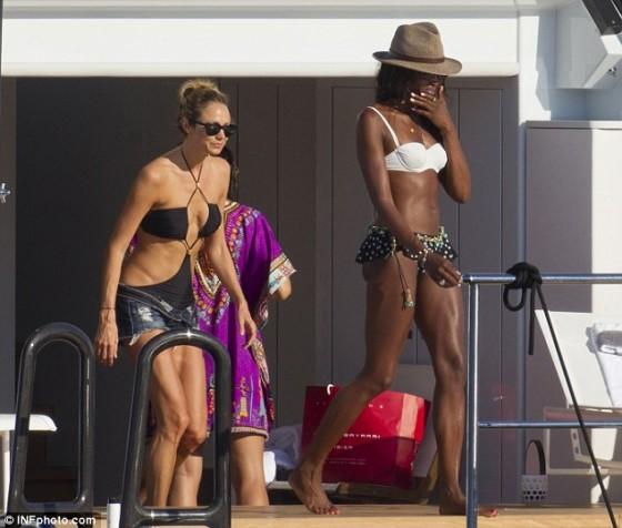 Stacy Keibler and Naomi Bikini Photos: on a yacht in Ibiza -16