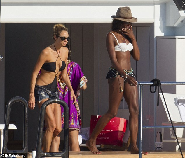 Stacy Keibler 2013 : Stacy Keibler and Naomi Bikini Photos: on a yacht in Ibiza -16