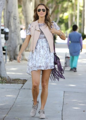 Stacy Keibler Wear Summer Dress -04