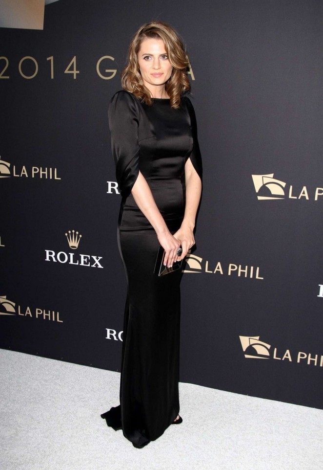 Stana Katic - LA Philharmonics Walt Disney Concert Hall Opening Night