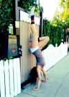 Stella Hudgens - Hand stand in Shors -01