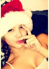 Stella Hudgens in a Christmas cap -01