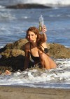 Stephanie Cook Bikini Photos: On set for commercial on the beach -01