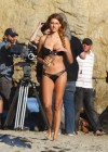 Stephanie Cook Bikini Photos: On set for commercial on the beach -03