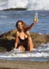 Stephanie Cook Bikini Photos: On set for commercial on the beach -06