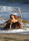 Stephanie Cook Bikini Photos: On set for commercial on the beach -22