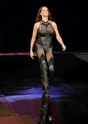 Stephanie McMahon in Tight Leather Outfit at WWE SummerSlam in Los Angeles