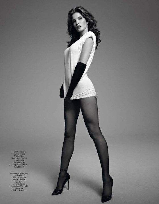 Stephanie Seymour Photoshoot for Vogue Hommes International France Magazine