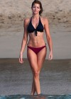 Stephanie Seymour - Wearing a bikini on the beach in St Barts