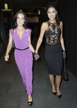 Stephanie Waring - night out with a girlfriend in Manchester